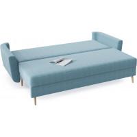 Диван кровать прямой норфолк голубого цвета