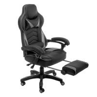 Компьютерное кресло Stimul черно серого цвета