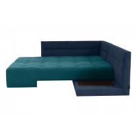 Угловой диван кровать London сине зеленого цвета