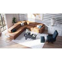 Широкий угловой диван Themis серого цвета