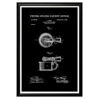 Арт постер патент на бритвенную чашку