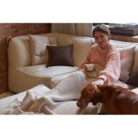 Бескаркасный модульный диван Premium c ремешками