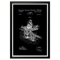 Арт постер патент на велосипед 1900