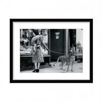 Чёрно белый постер Cheetah in The Store