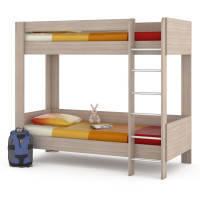Двухъярусная кроват ника 80х200 цвета есень шимо