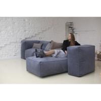 Бескаркасный модульный диван с подлокотниками пуфами