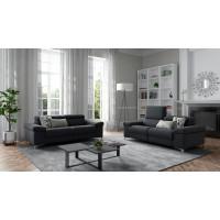 Прямой диван Silenos темно синего цвета