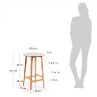 Барный стол Giorgia серого цвета