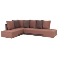 Угловой диван кровать London коричневого цвета