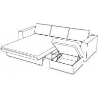 Угловой диван кровать Igarka красного цвета
