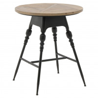 Барный стол из металла и дерева