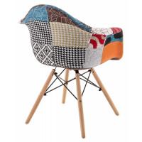 Кресло стул Multicolor с деревянными ножками