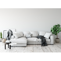 Угловой диван Lounge светло серого цвета