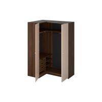 Шкаф Uno угловой левый коричнево бежевого цвета
