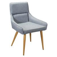Кресло Jean грей натур с обивкой из серой