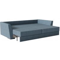 Диван кровать прямой милан Velvet синего цвета