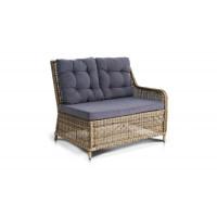 Плетеный левый модуль дивана бергамо