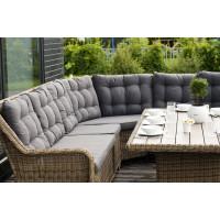 Плетеный круглый диванный модуль бергамо