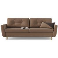 Диван кровать прямой норфолк коричневого цвета