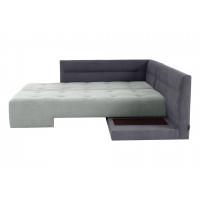 Угловой диван кровать London серого цвета