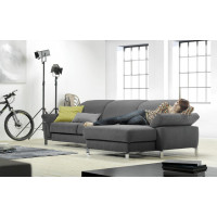 Угловой диван Helena серого цвета