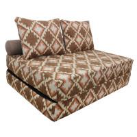 Диван кровать с подушками и валиком
