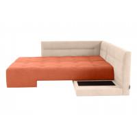 Угловой диван кровать London бежево оранжевого цвета
