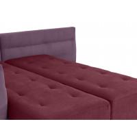 Угловой диван кровать London бордово фиолетового цвета