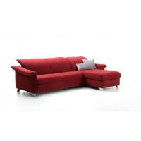 Угловой диван Galaxio красного цвета