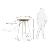 Стол со стальными ножками Julia Grup Malibu