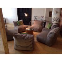 Бескаркасный модульный диван из шести модулей