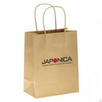 Japonica Брендированный крафт пакет с кручеными ручками