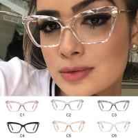 Классический открытый четкие линзы квадратные очки металлические