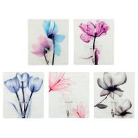 2шт живописи цветок стены крючок вешалка самоклеящаяся