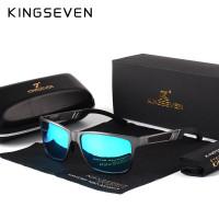 KINGSEVEN мужчины поляризованные солнцезащитные очки алюминия магния