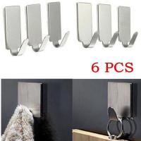 6pcs Кухня Стена Дверь нержавеющей стали Stick