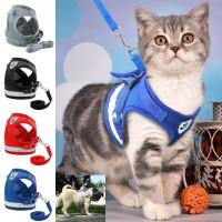 Светоотражающая шлейка для кошек и собак