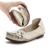 Натуральная кожа квартиры обувь для дамы мягкой