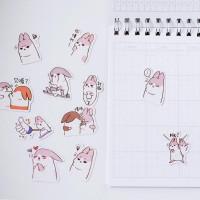 40Pcs/пакет милый зайчик жира кроликов декоративные наклейки