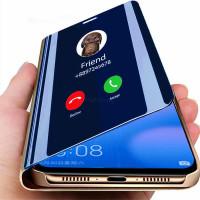 Полная защита Зеркало Flip кожаный телефон Чехол