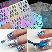 Ногтей искусство передачи наклейки дизайн полые маникюр