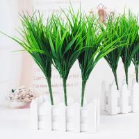 1Pcs 7 Филиалы Зеленый Листья Искусственная трава