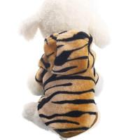 Фланелевый,леопардовый комбинезон с капюшоном для собак,xs xxl