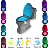 Световой датчик движения в туалет 8 цветов