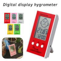 Цифровой термометр гигрометр LCD часы метеостанция измеритель