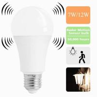 12W E27 Белый смарт датчик светодиодные лампы