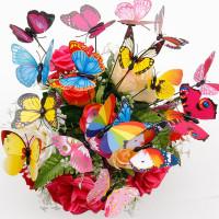 20шт 3D красочные DIY моделирования Butterfly Home