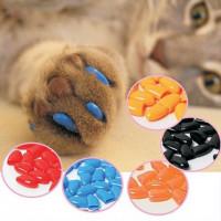 Накладные силиконовые ногти для кошек. 20 шт