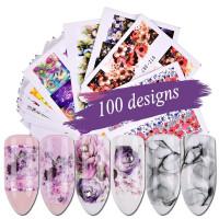 Слайдеры для дизайна ногтей 24 штуки