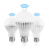 E27 85 265V светодиодный датчик Bulb человеческого